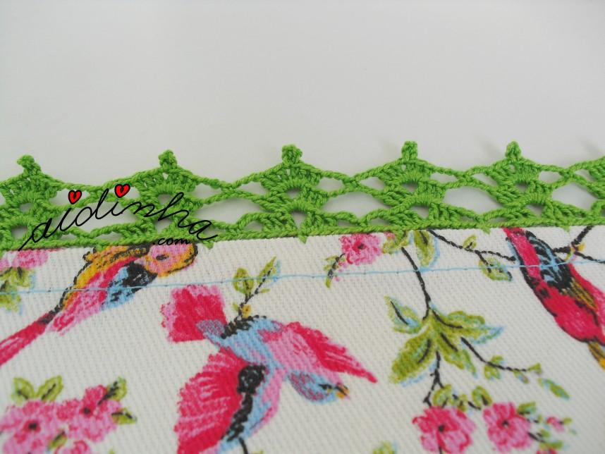 crochet da toalhinha com passarinhos