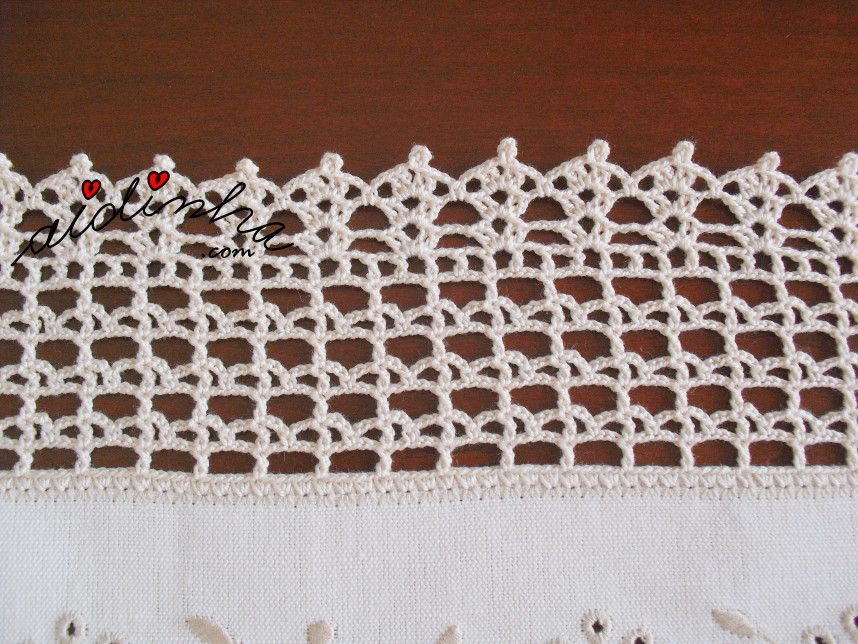 crochet do conjunto de quarto em linho bordado e cor creme