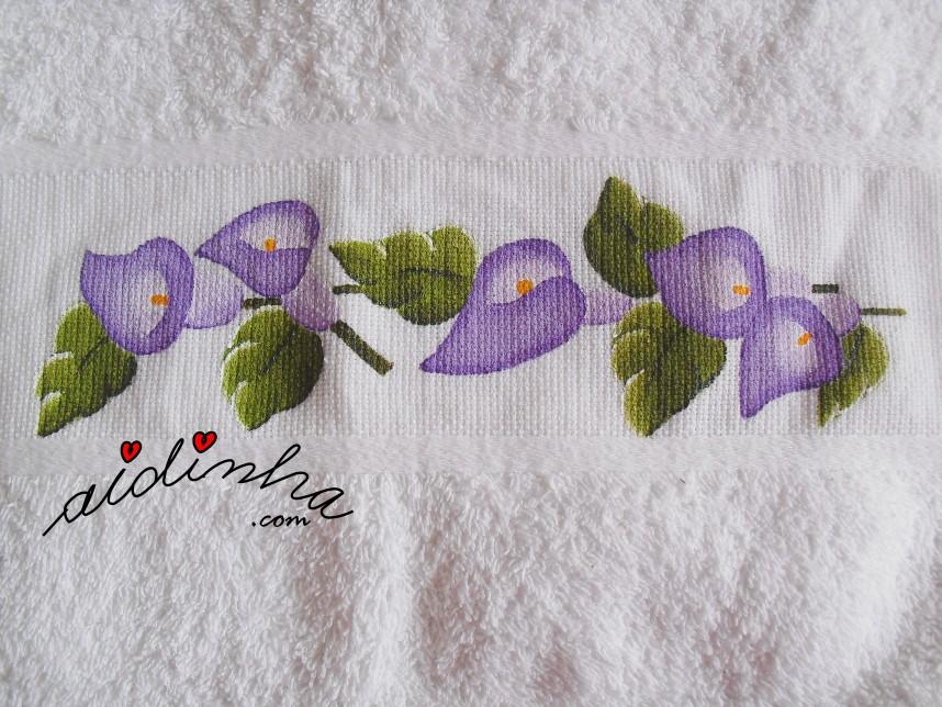 pintura do conjunto de toalhas de banho