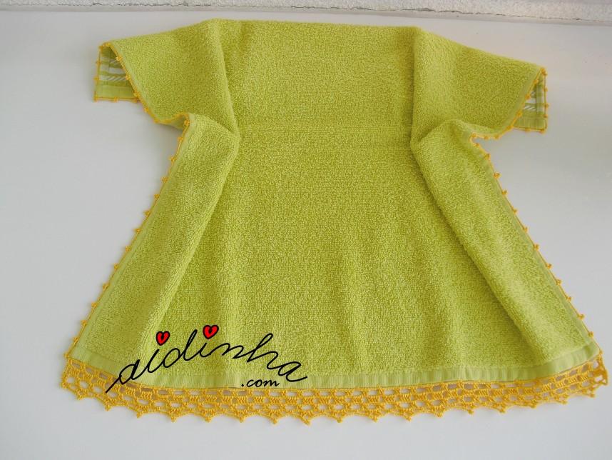 pano turco de cozinha, com crochet