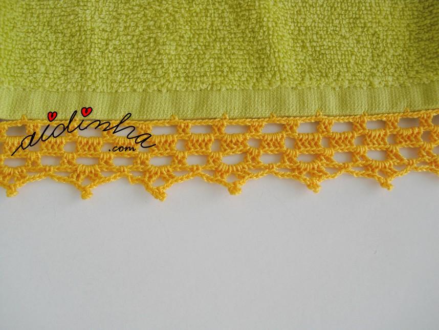 crochet do pano turco do conjunto de cozinha verde