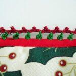 Conjunto de pegas de Natal, com crochet